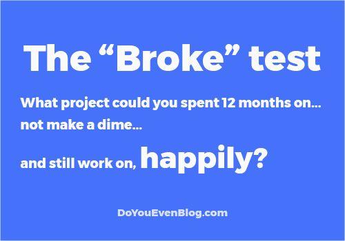 the broke test do you even blog