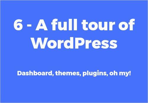 WordPress dashboard tutorial