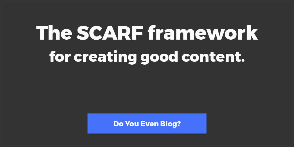 How to create good content (a super simple framework)