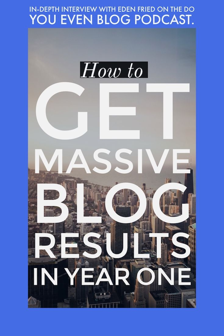 008 How to get massive blog results in year one – Eden Fried