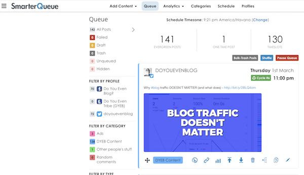 smarterqueue dashboard screenshot