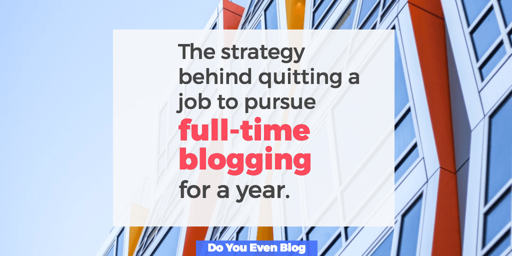 Why Chris left the American Dream to focus on blogging for a year [coaching session]