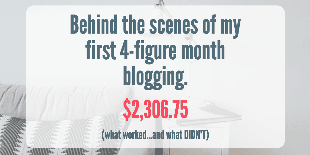 September 2017 Blog Income Report: $2,306.75 – Behind the scenes of my first 4-figure month