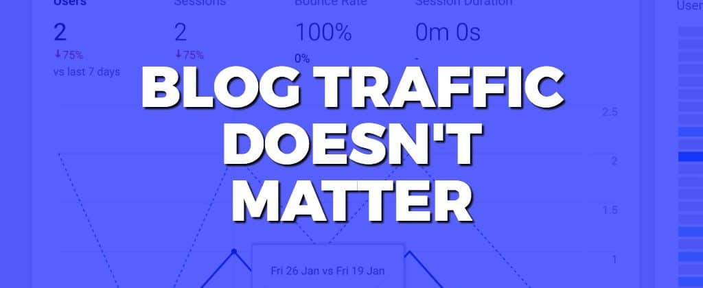 why blog traffic doesn't matter