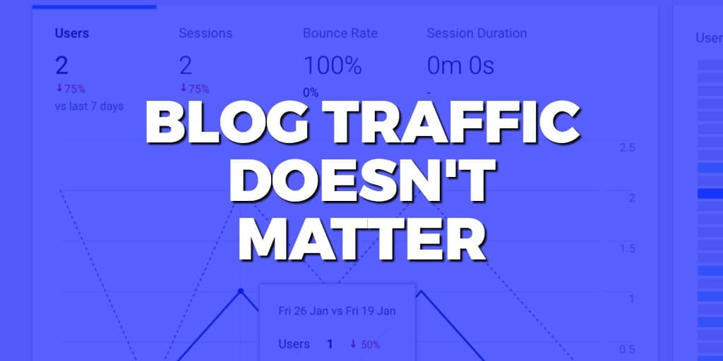 Why blog traffic DOESN'T MATTER (and what does)
