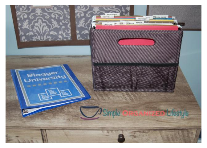 blogging file folder