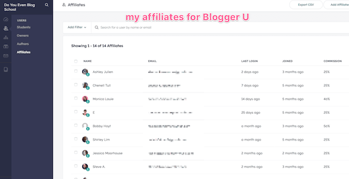 Blogger U affiliate