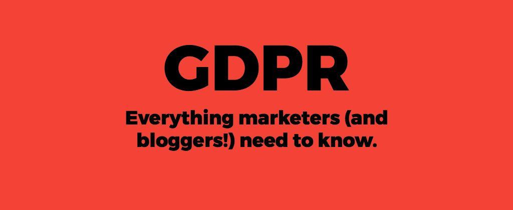 GDPR compliance bloggers marketing