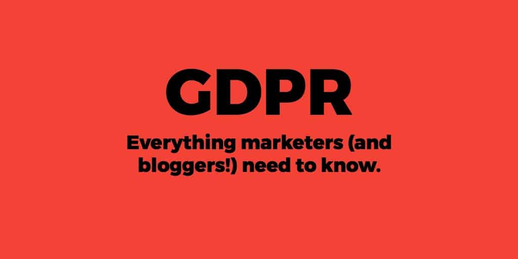 GDPR compliance bloggers marketing