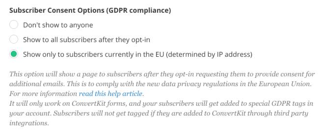GDPR convertkit compliance