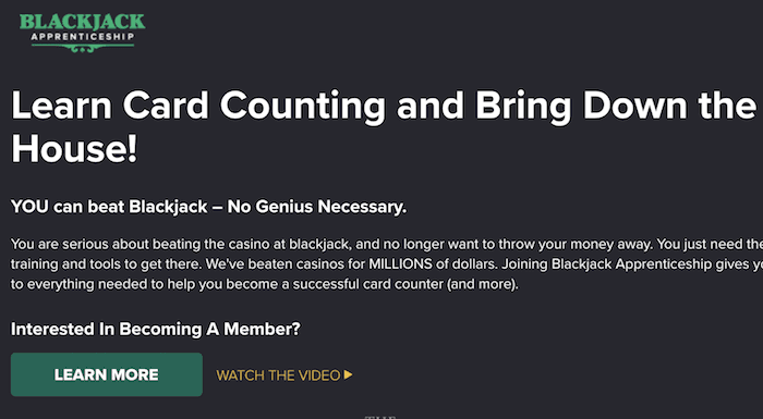 blackjack apprentice members site