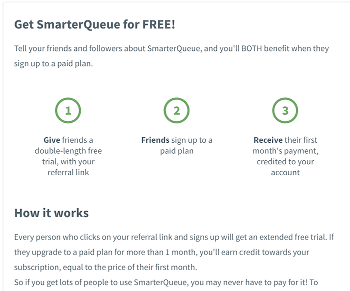 smarterqueue refer a friend