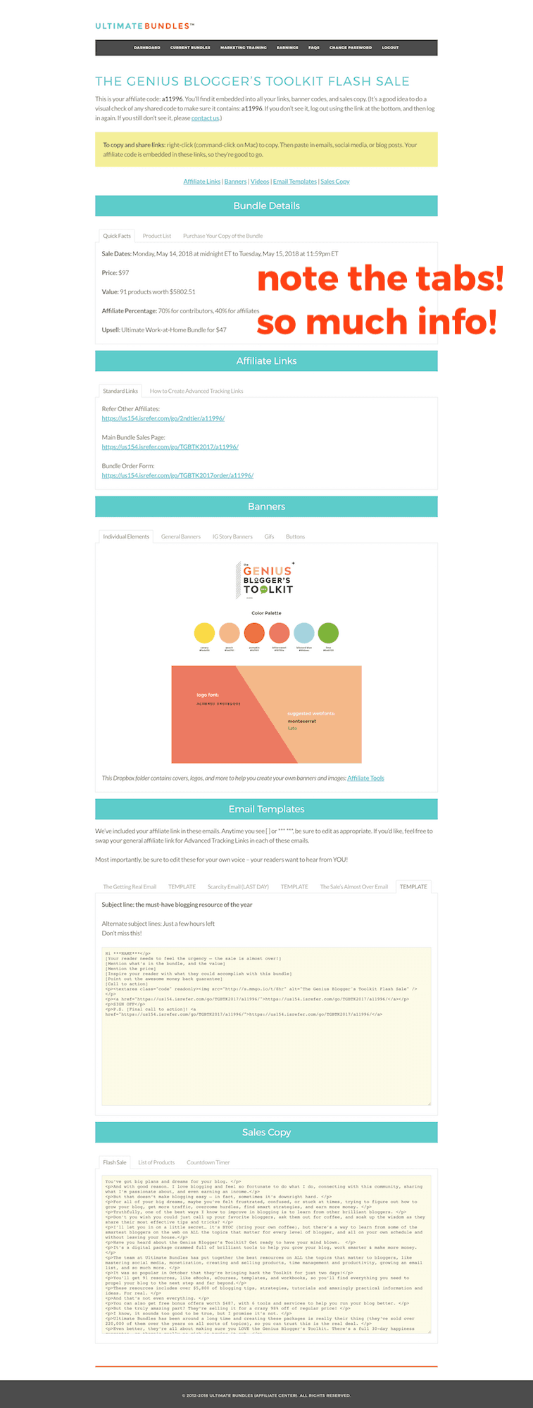 genius bloggers toolkit dashboard