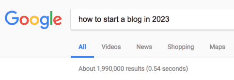 start a blog in the future