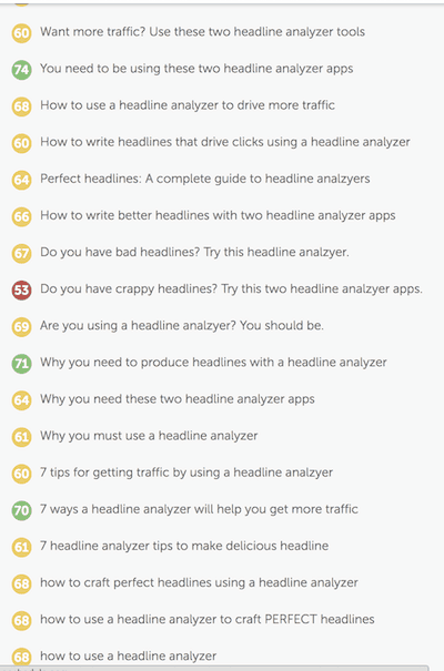 using the coschedule headline analyzer