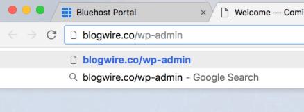 wordpress blog login url