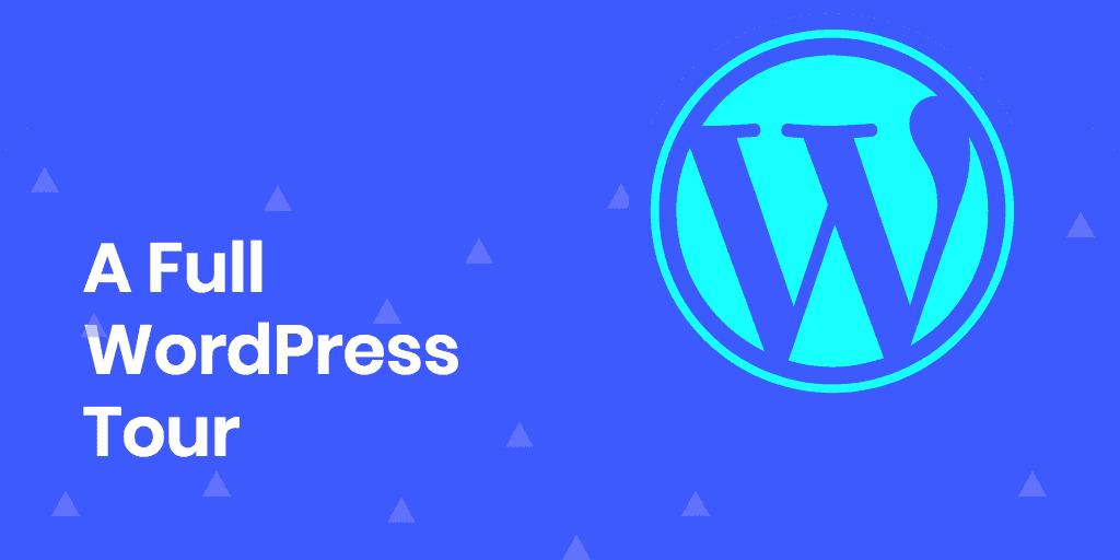 wordpress dashboard tour