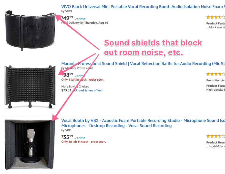 sound shields on amazon