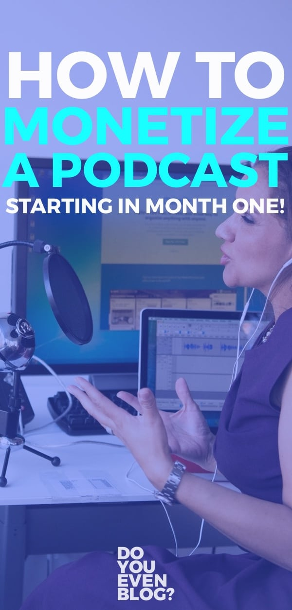 make money podcasting