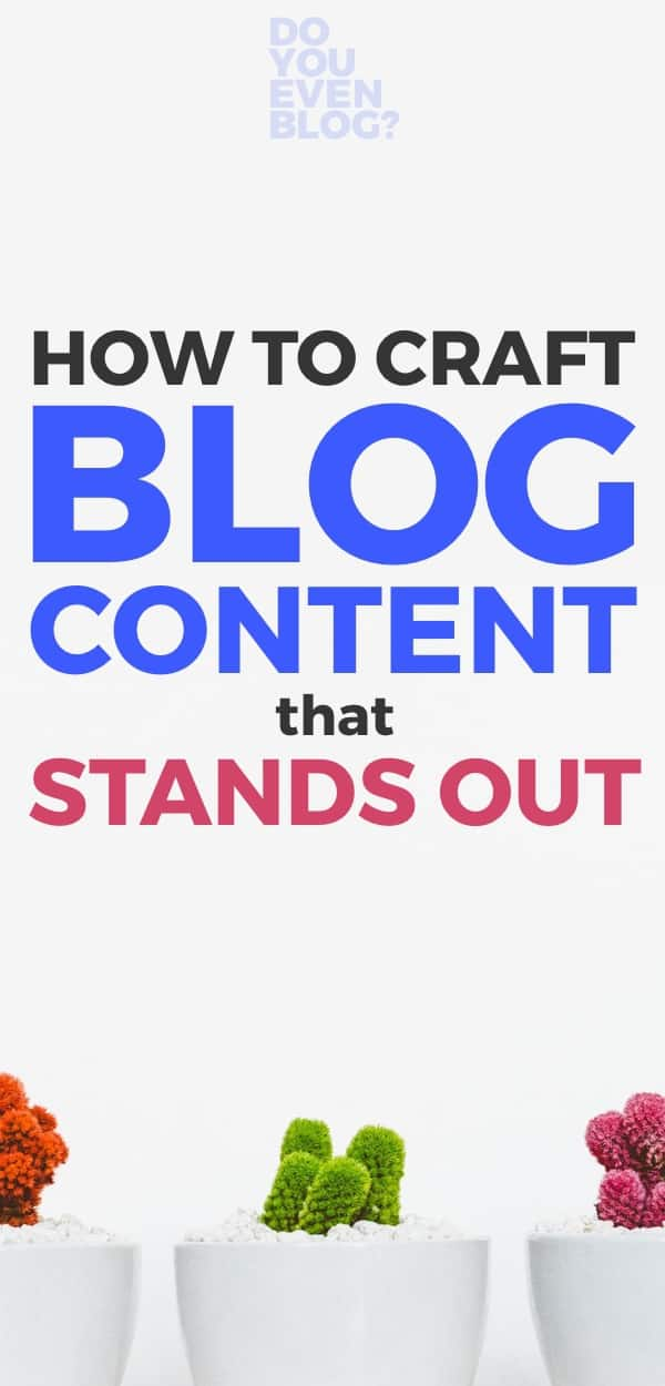 BLOG branding that stands out