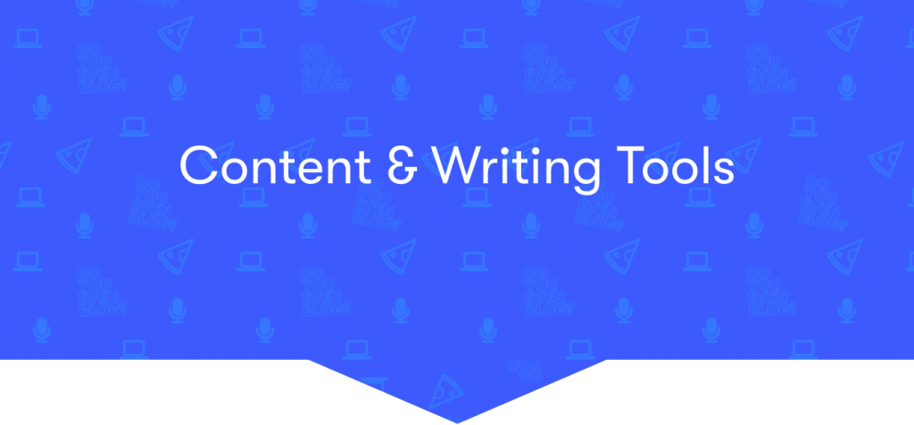 content and writing tools banner