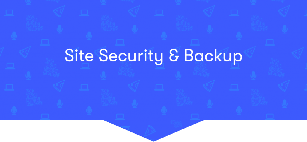 site security backup tools