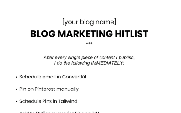 blog marketing hitlist