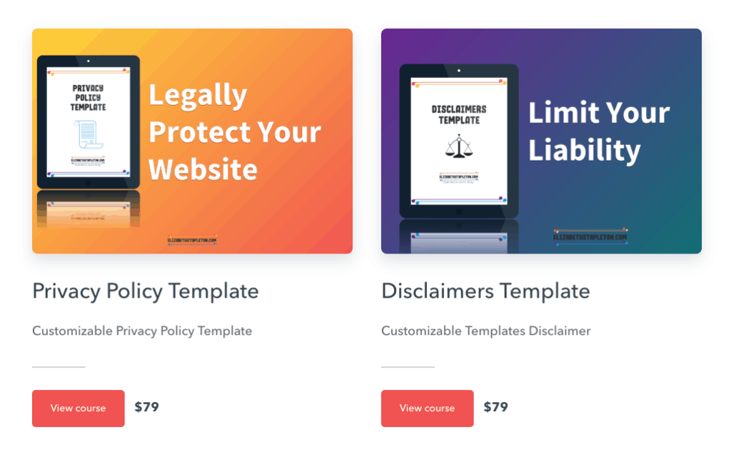 blog legal templates