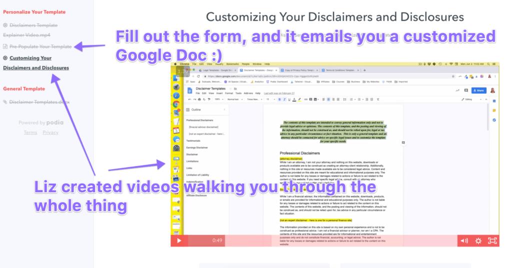 affiliate disclosure template from liz