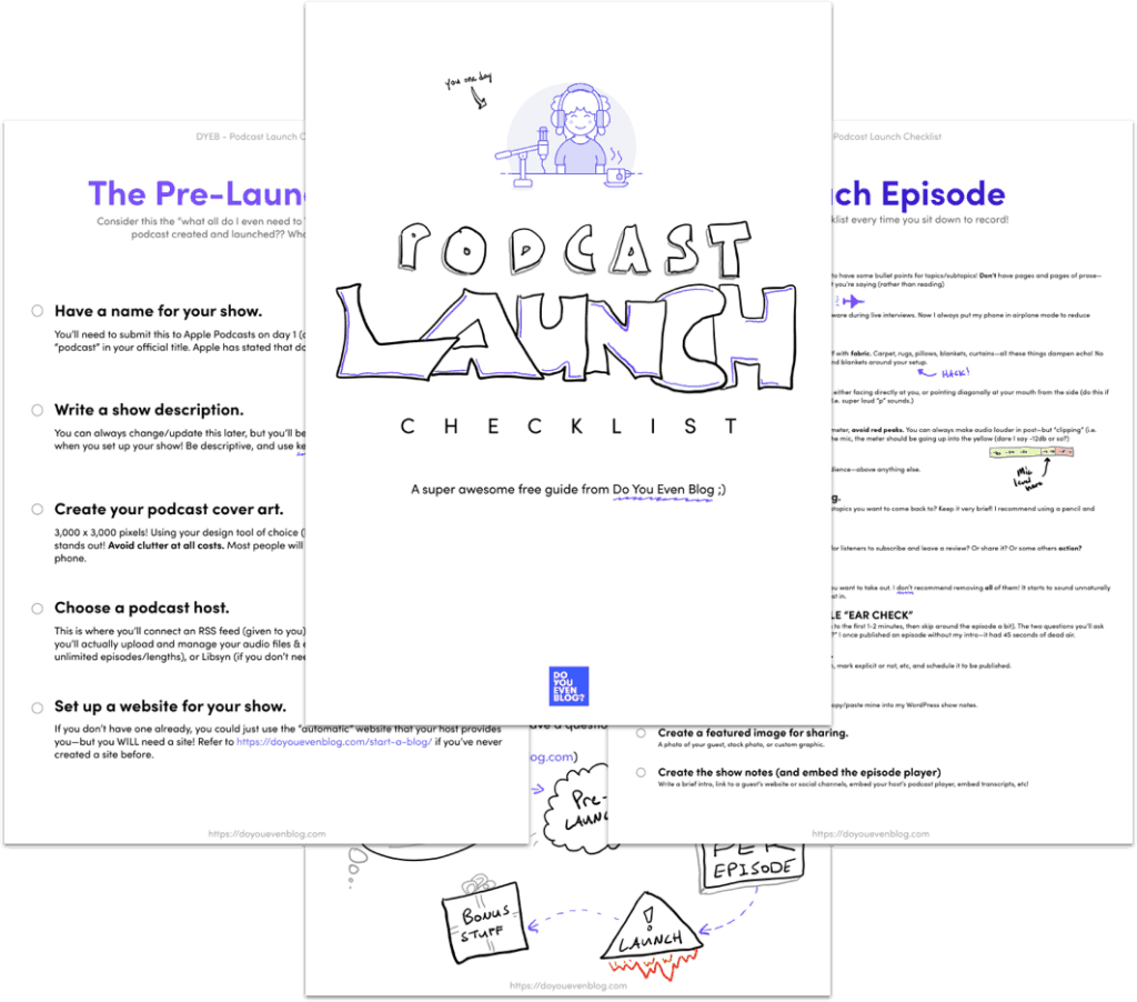 podcast launch checklist