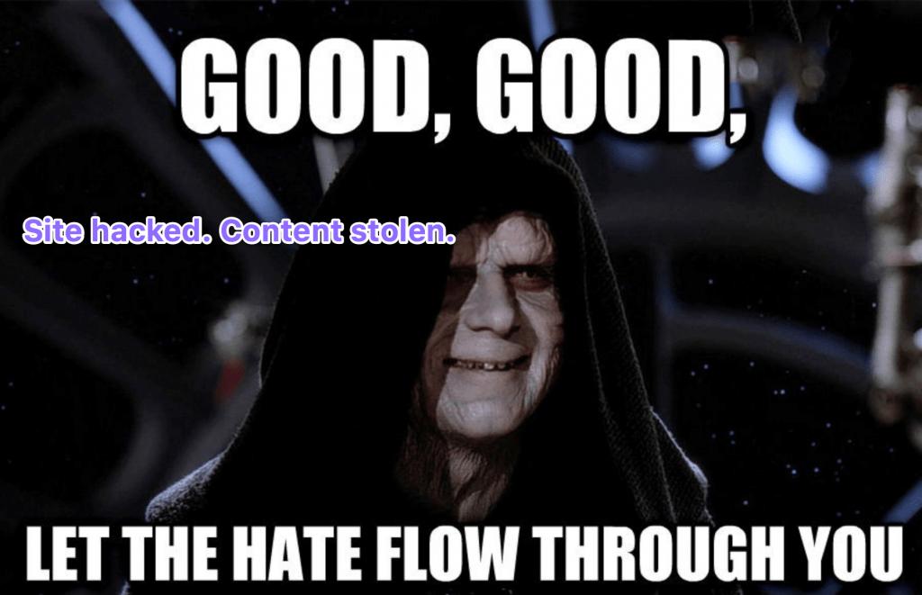 content stolen